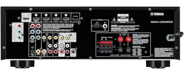 Yamaha RX-V377 A/V Receiver Back