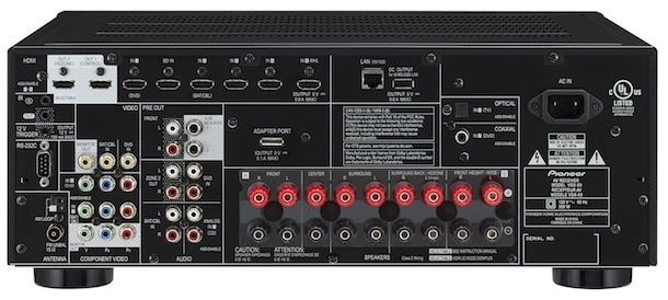 Pioneer VSX-80 Back