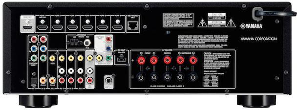 Yamaha RX-V477 A/V Receiver Back