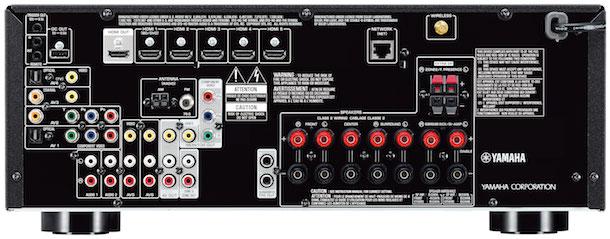 Yamaha RX-V677 A/V Receiver Back