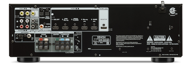 Denon AVR-S500BT Back