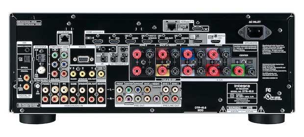 Integra DTR-40.6 A/V Receiver - Back