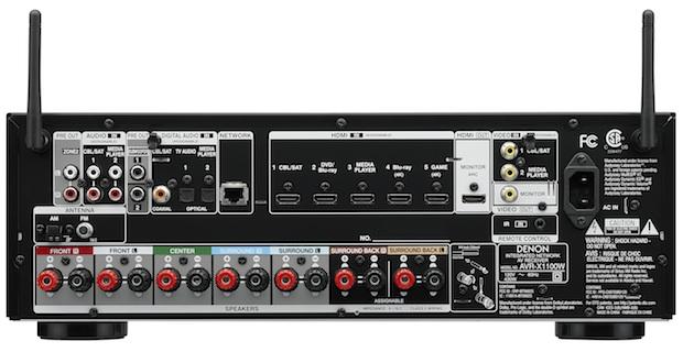 Denon AVR-X1100W A/V Receiver back
