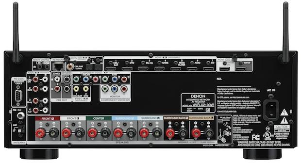 Denon AVR-X2100W A/V Receiver back