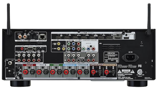 Denon AVR-X3100W A/V Receiver back