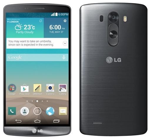 LG G3 front back