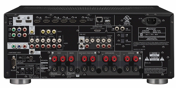Pioneer Elite SC-82 A/V Receiver back